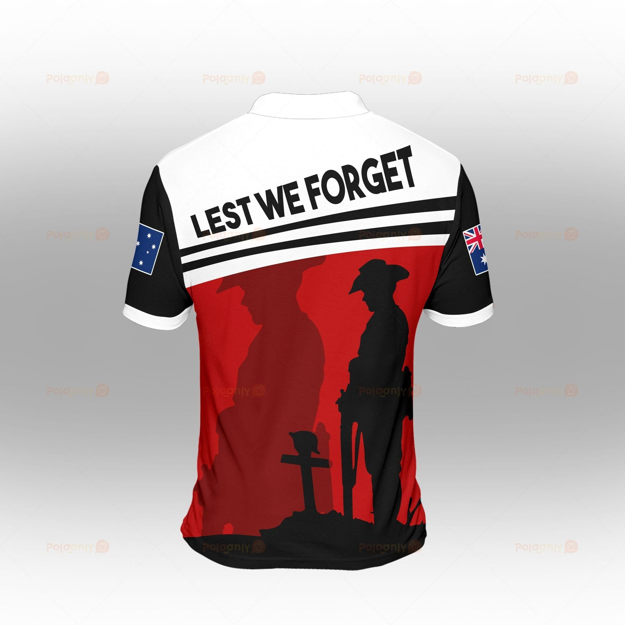 Australia Veteran Lest We Forget Polo Shirt 1