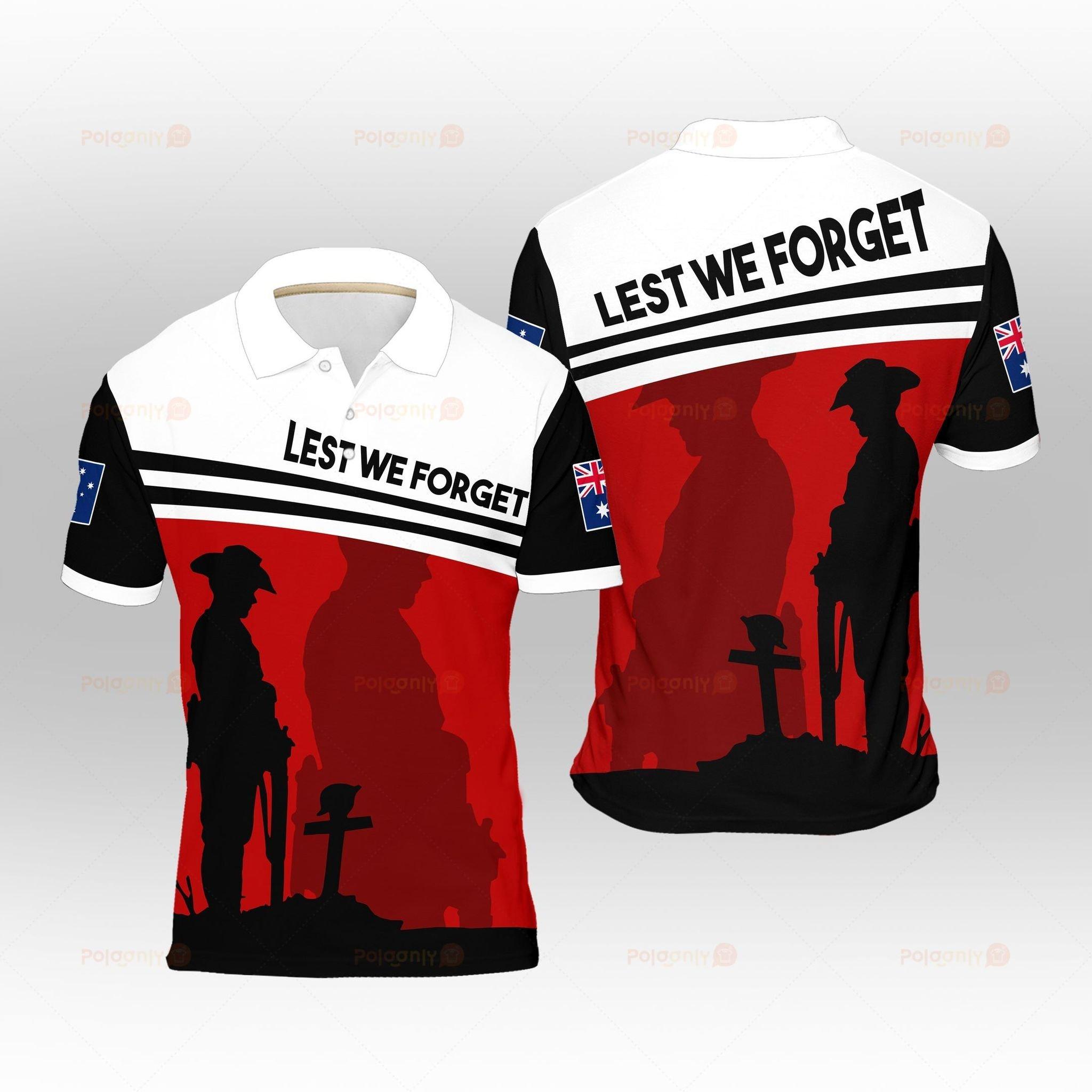 Australia Veteran Lest We Forget Polo Shirt 2