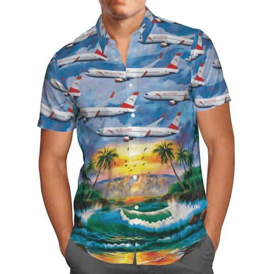 Austrian airlines boeing 767 31aer hawaiian shirt 2