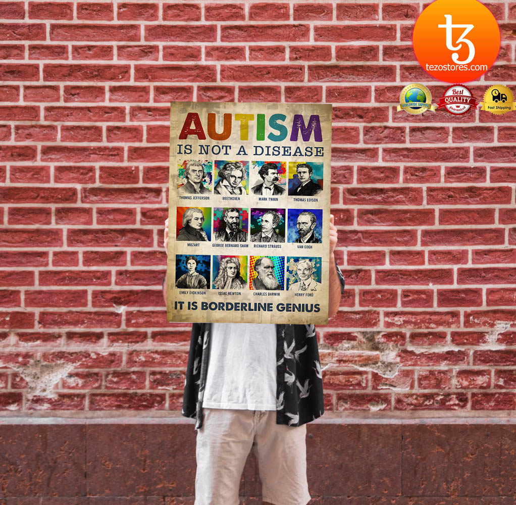 Autism is not a disease it is borderline genius poster 13