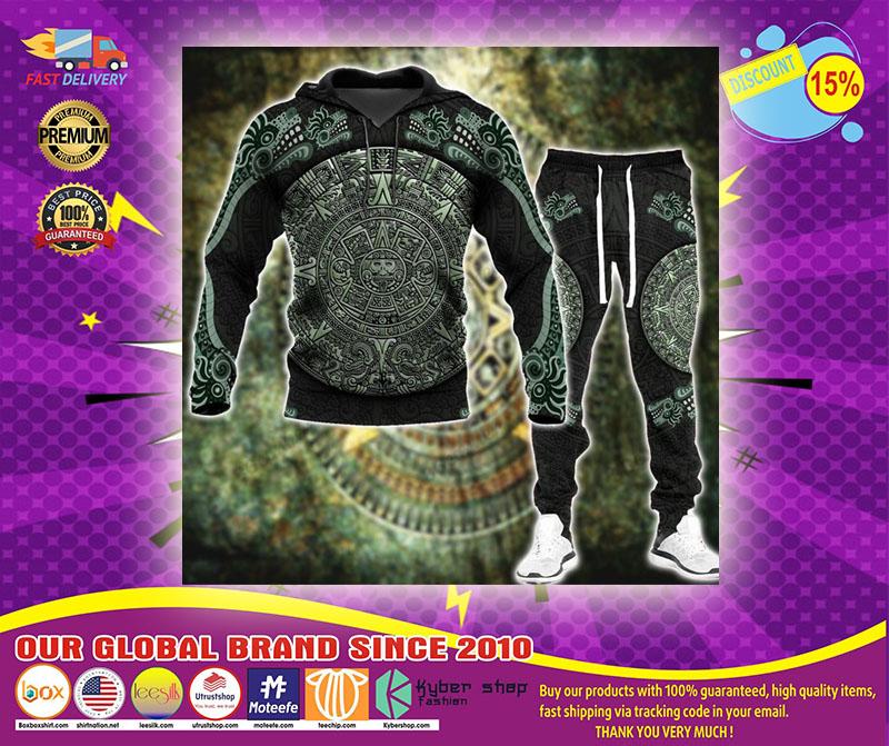 Aztec jungle 3D hoodie and sweatpant