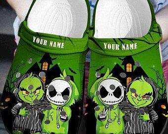 Baby Grinch And Jack Skellington Crocs croc crocband shoes