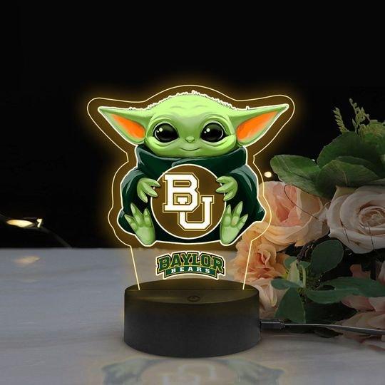 Baby Yoda Baylor Bears NCAA Led lamp1