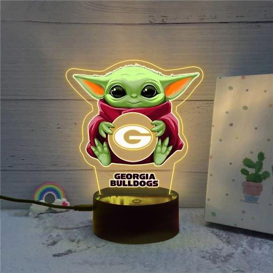 Baby Yoda Georgia Bulldogs NCAA Led lamp
