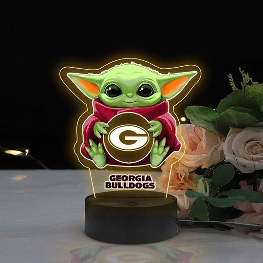 Baby Yoda Georgia Bulldogs NCAA Led lamp1