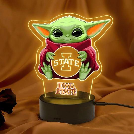 Baby Yoda Iowa State Cyclones led lamp