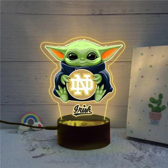 Baby Yoda Notre Dame Fighting Irish NCAA Led lamp