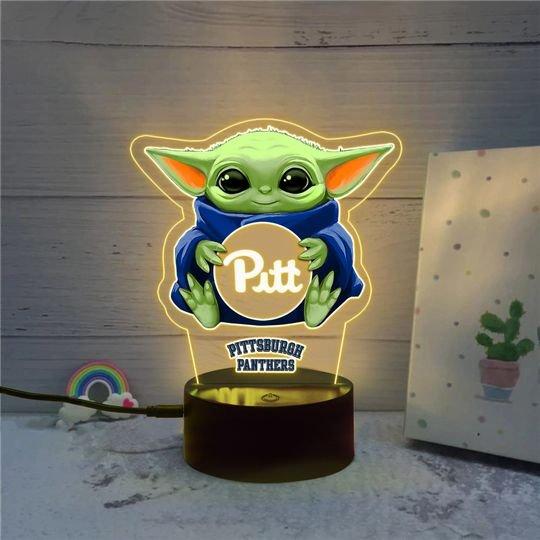Baby Yoda Pittsburgh Panthers NCAA Led lamp