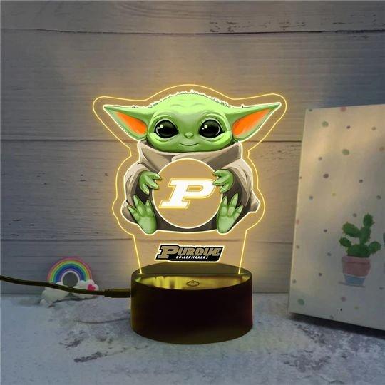 Baby Yoda Purdue Boilermakers NCAA Led lamp