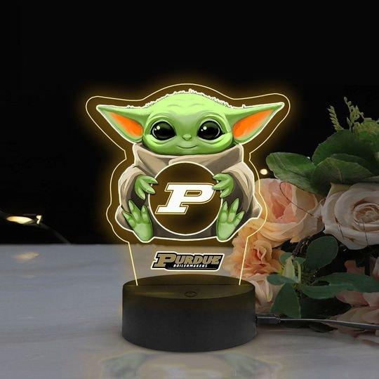 Baby Yoda Purdue Boilermakers NCAA Led lamp1