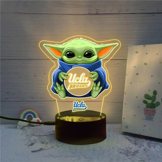 Baby Yoda UCLA Bruins NCAA led lamp