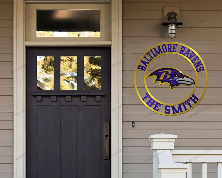 Batimore Ravens customized cut metal sign wall decor