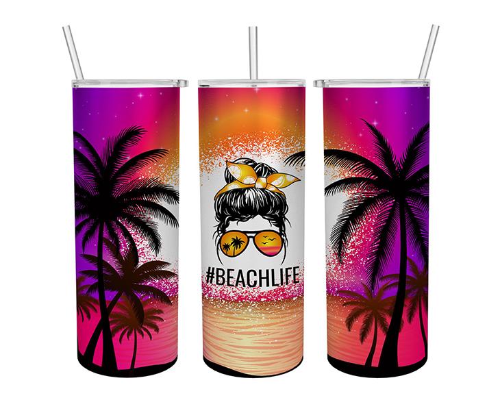 Beachlife Skinny Tumbler