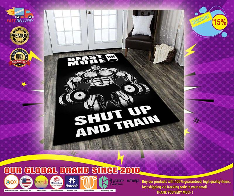 Beast shup up and train rug