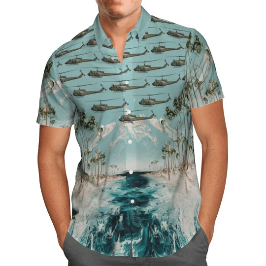 Bell uh 1d iroquois german army hawaiian shirt 3