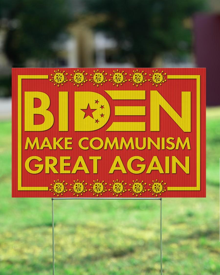 Biden make communism great again Yard Sign 4