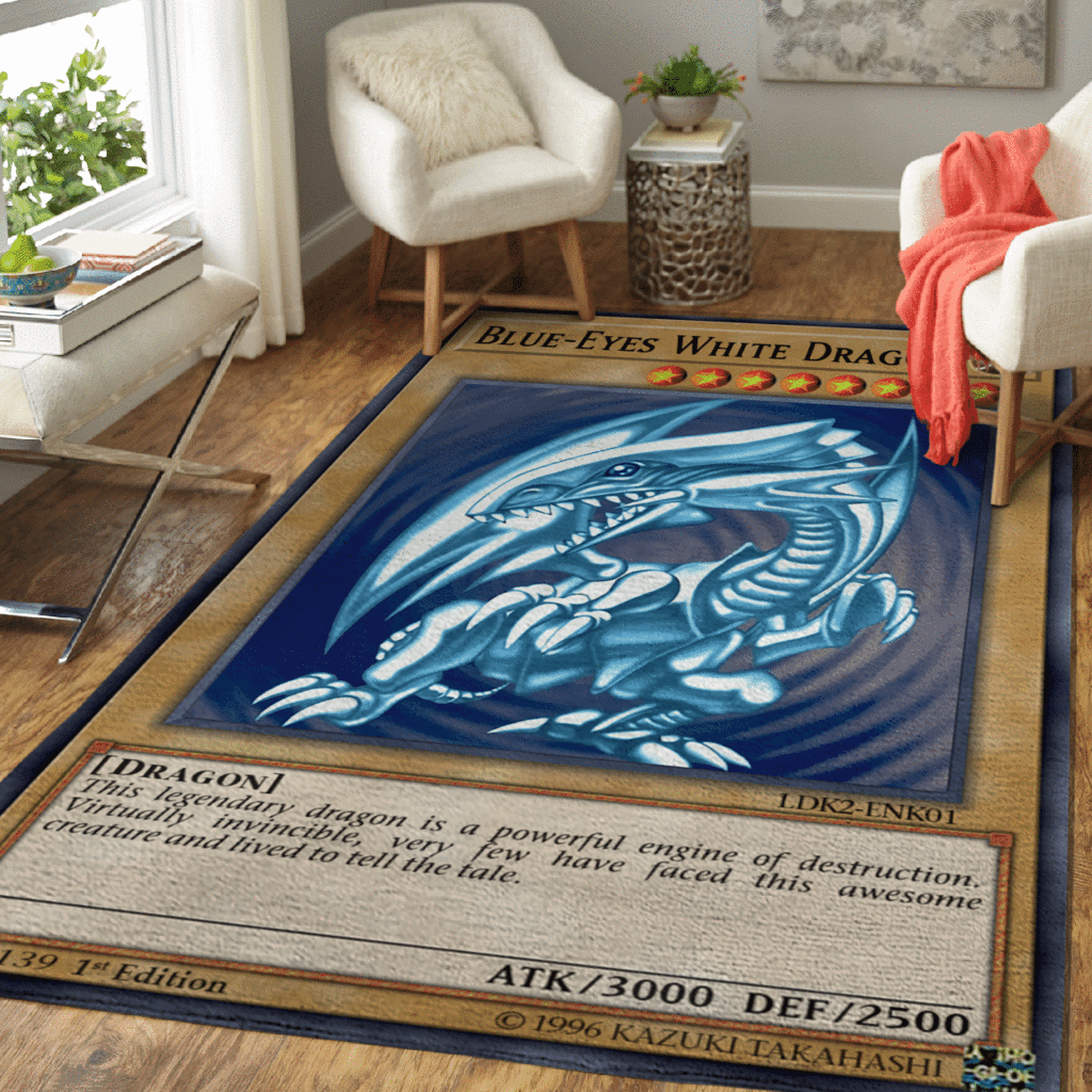 Blue Eyes White Dragon rug