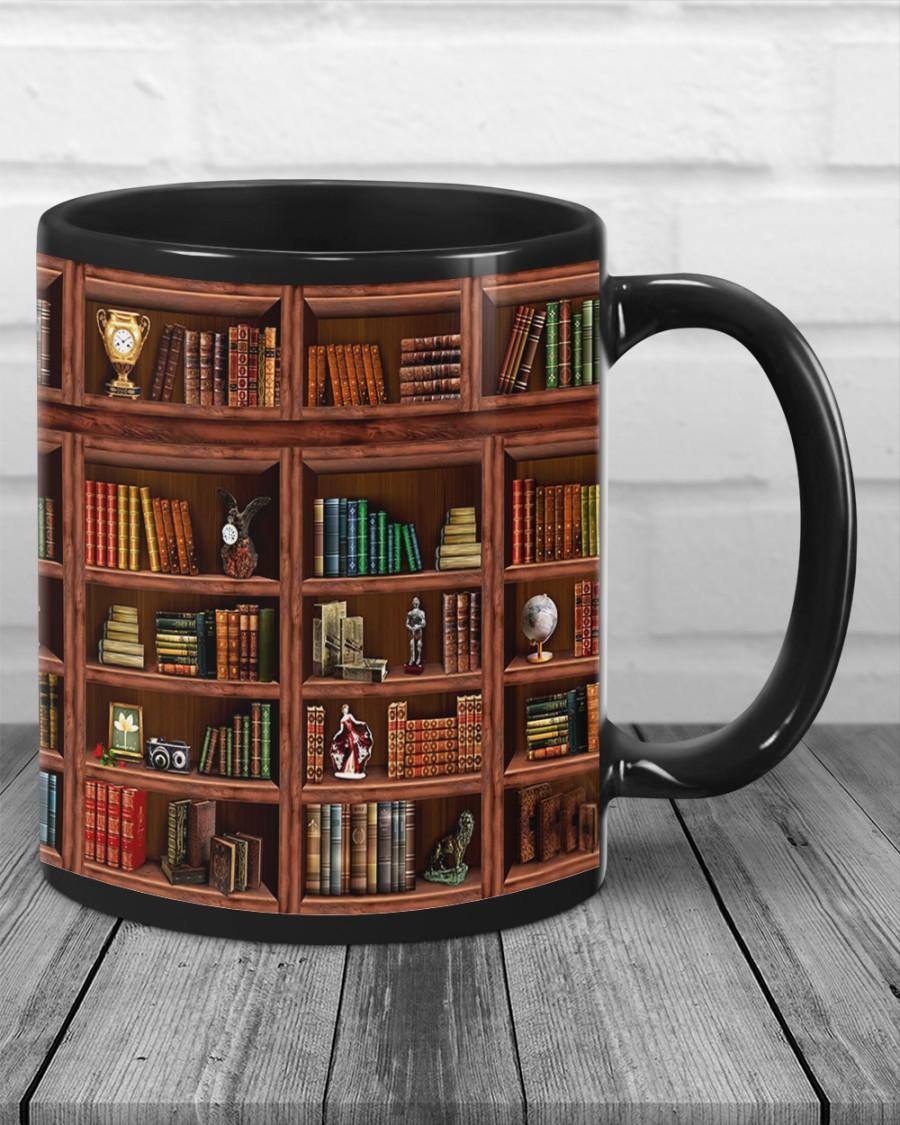 Book Shelf Library Mug 4