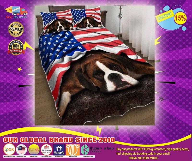 Boxer American patriot bedding set