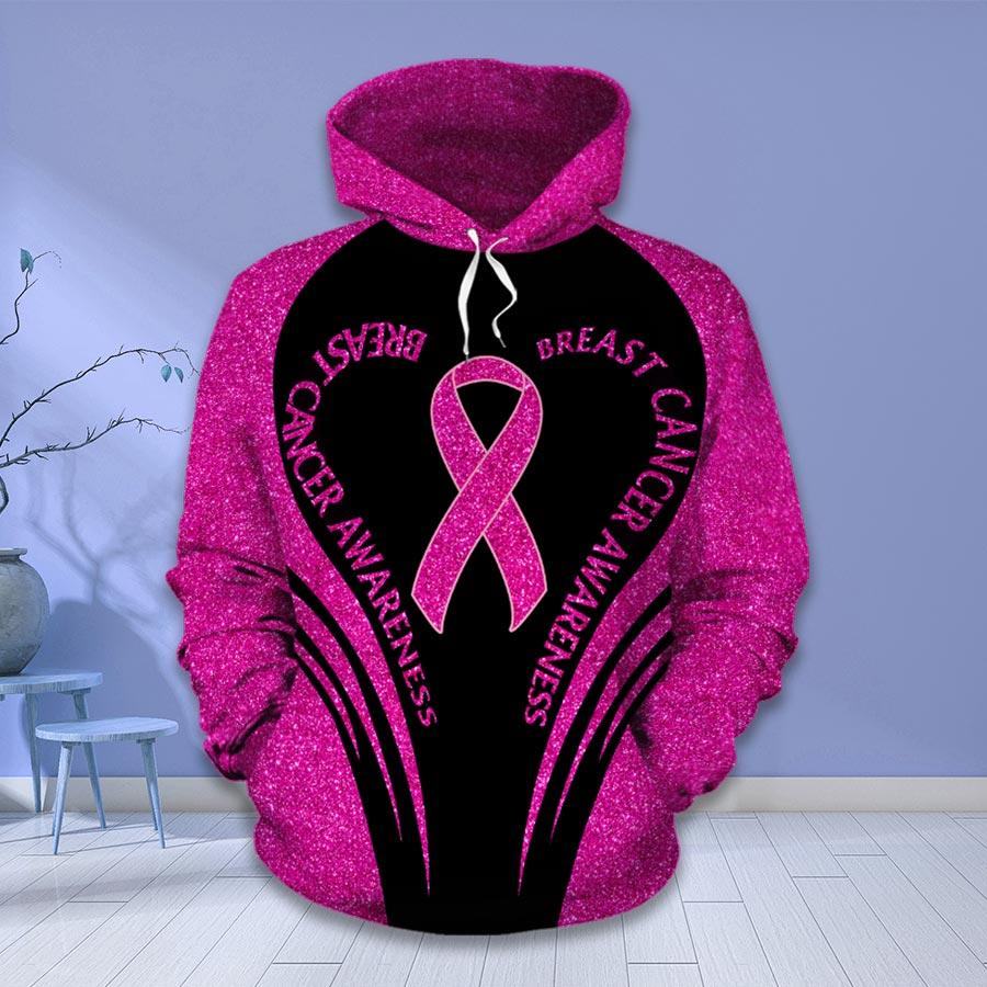 Breast cancer awareness month I wear pink survivor fight like a girl hoodie and legging 1
