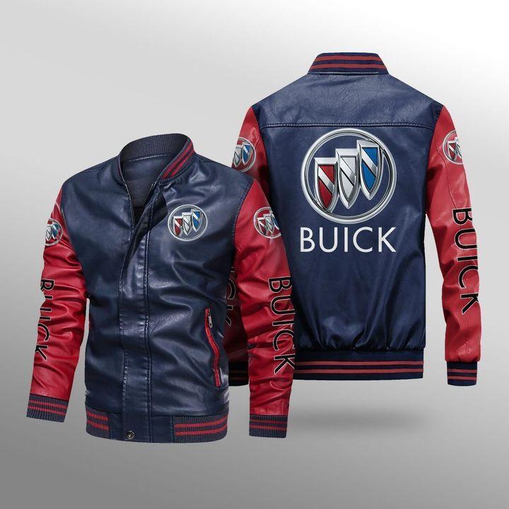 Buick Leather Bomber Jacket 4