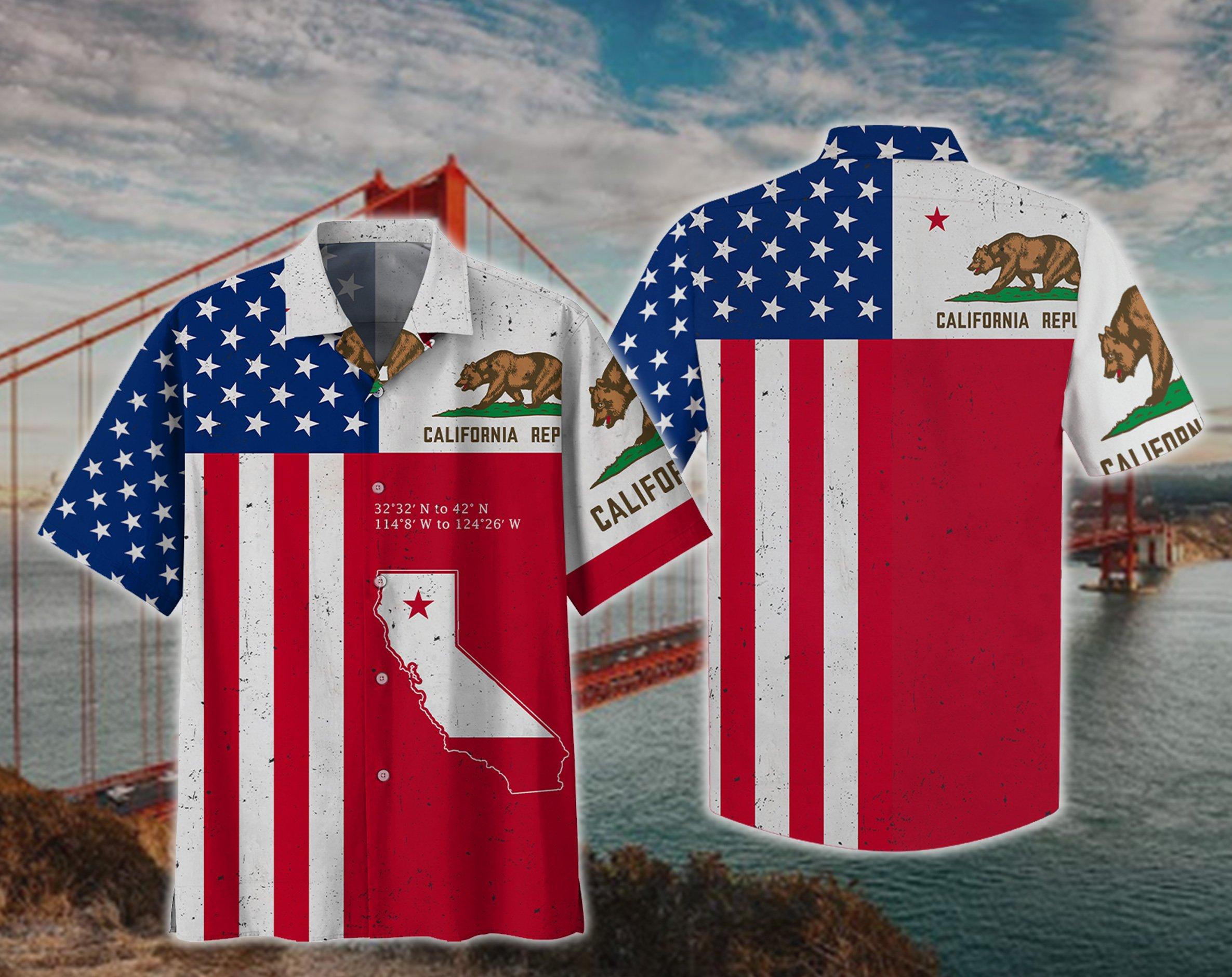California Bear American Hawaii Shirt and Short2