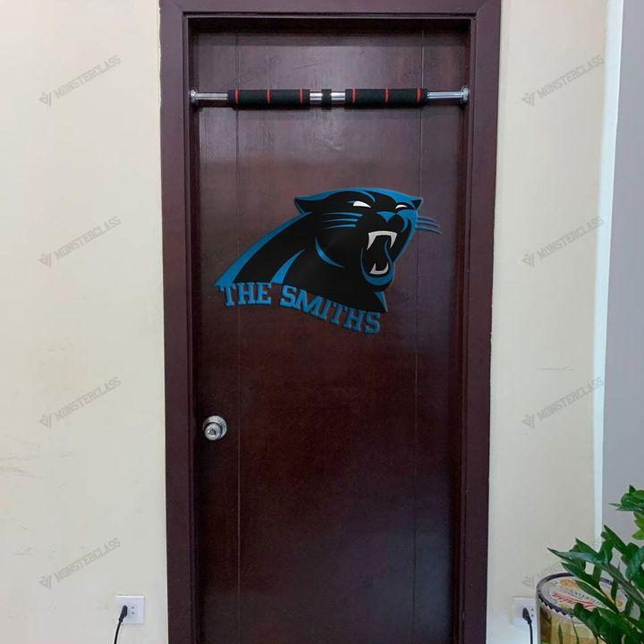 Carolina Panthers customized cut metal sign wall decor1