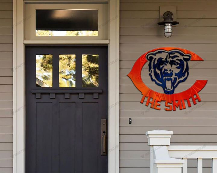 Chicago Bears customized cut metal sign wall decor