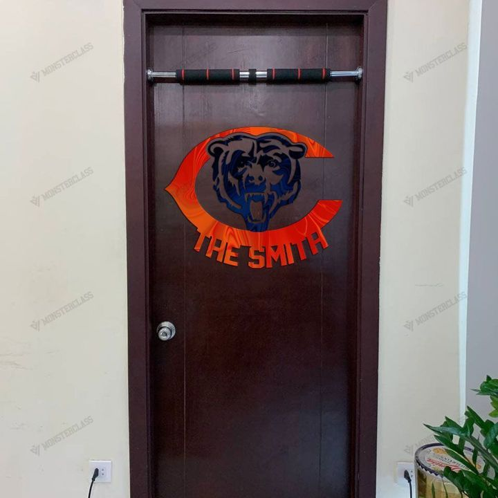 Chicago Bears customized cut metal sign wall decor1