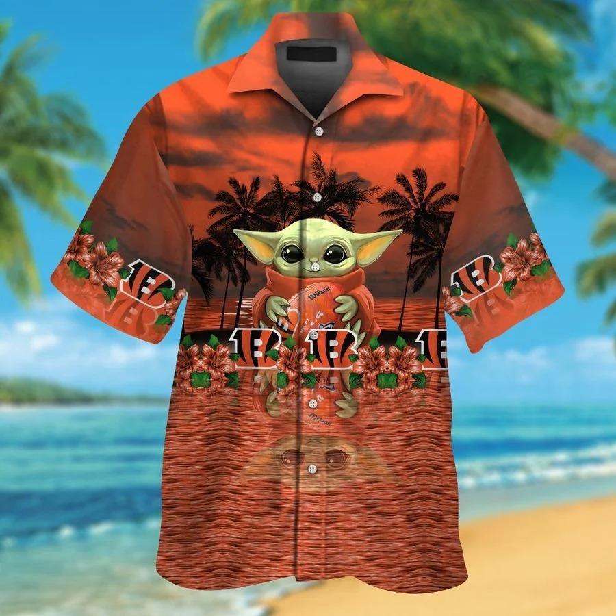 Cincinnati Bengals And Baby Yoda Hawaiian Shirt Shorts1