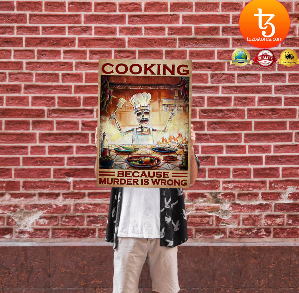 Cooking because murder is wrong poster 11