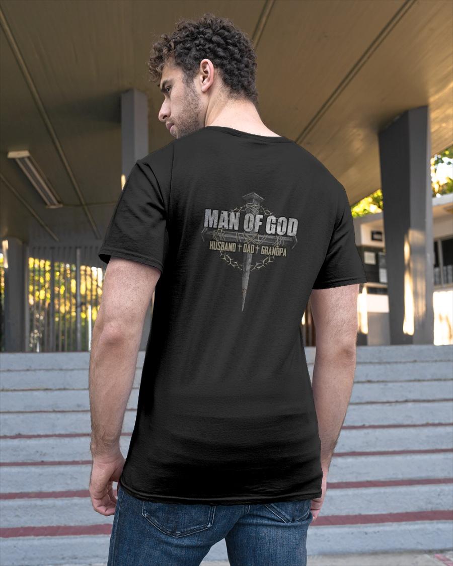 Cross Man Of God Husband Dad Grandpa Shirt