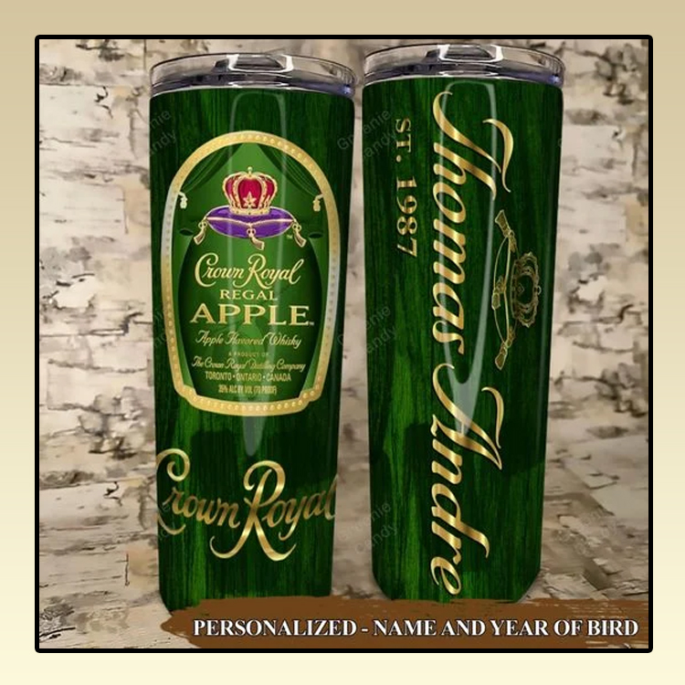 Crown Royal Apple Custom Name and Year Tumbler3