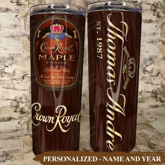 Crown Royal Maple Custom Name and Year Tumbler4