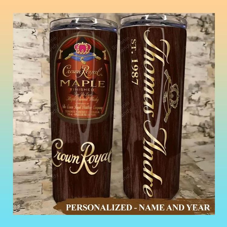 Crown Royal Maple Custom Name and Year Tumbler5