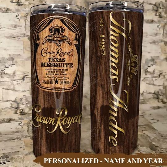 Crown Royal Mesquite Custom Name and Year Tumbler4