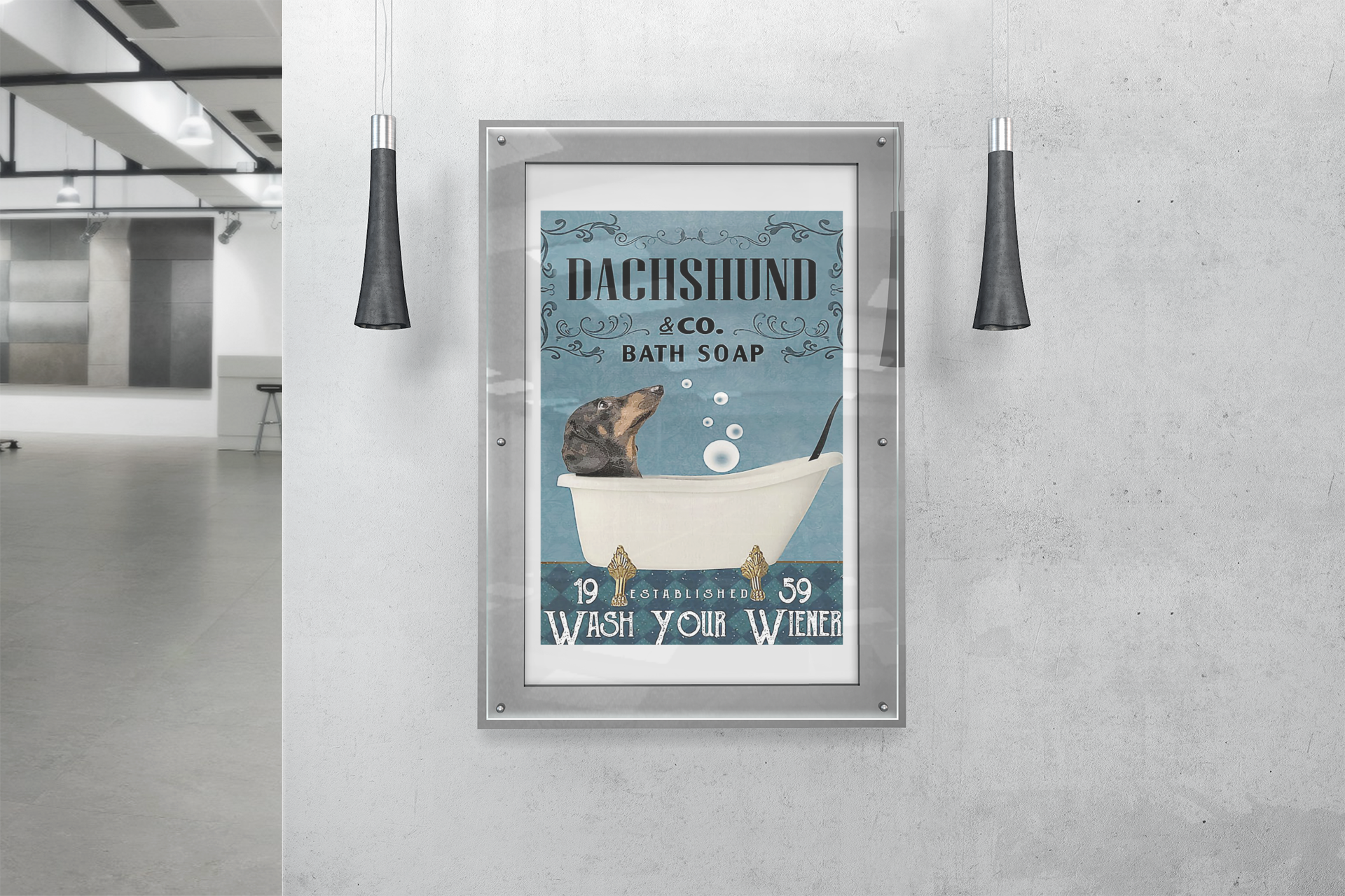 Dachshund and co bath soap wash your wiener poster14
