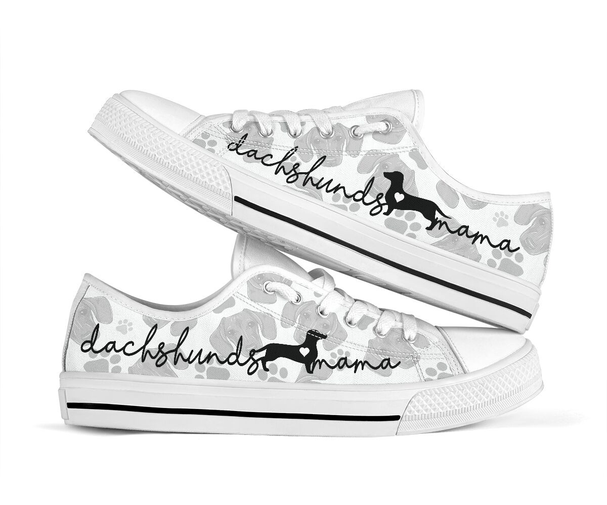 Dachshund lovers mama low top shoes sneaker