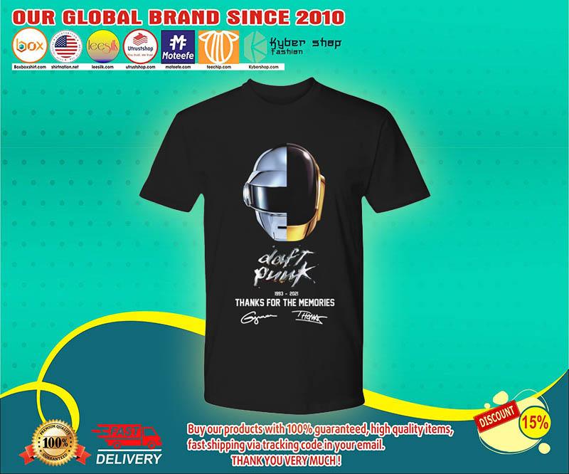 Daft punk thanks for the memories 1993 - 2021 shirt