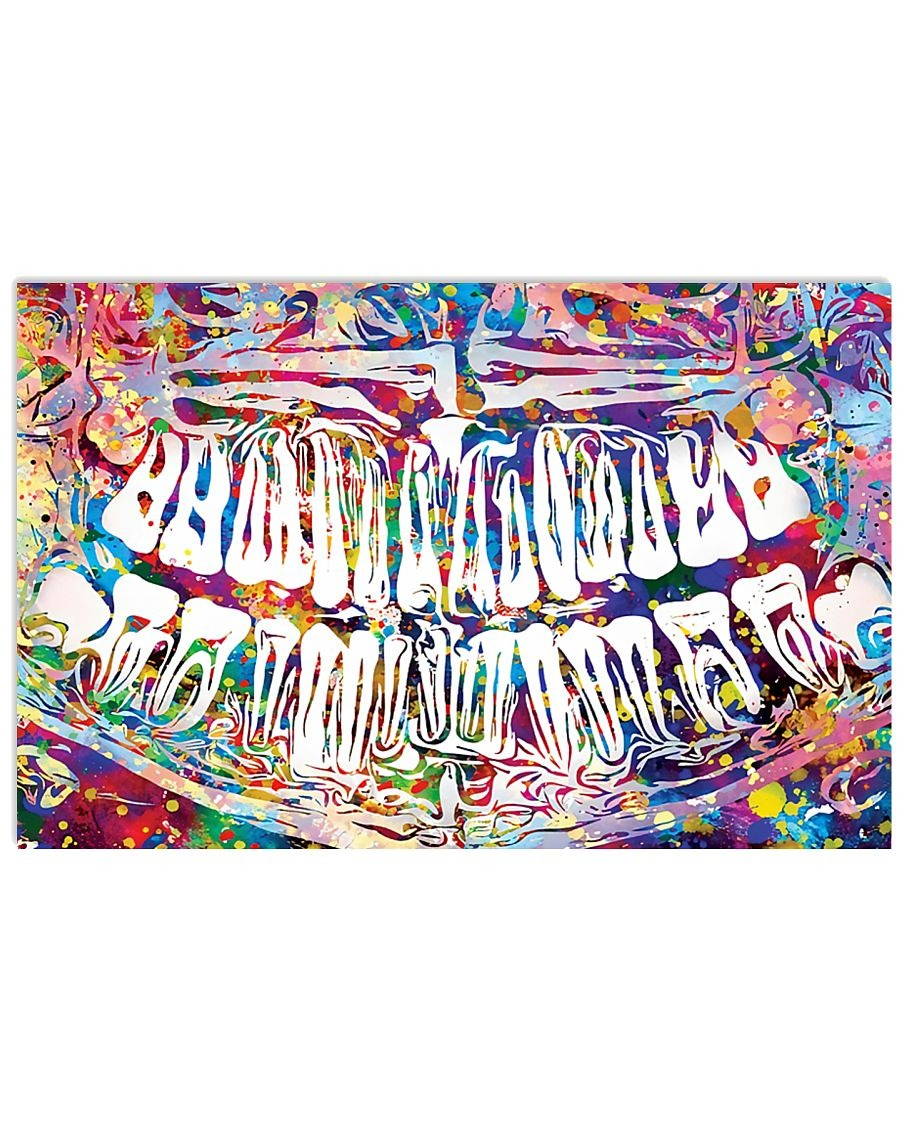 Dentist Colorful X-ray Image poster