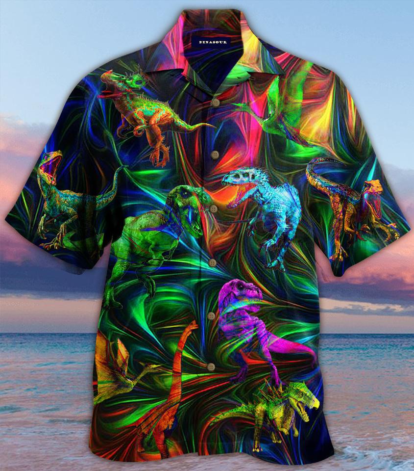 Dinosaur fantasy hawaiian shirt