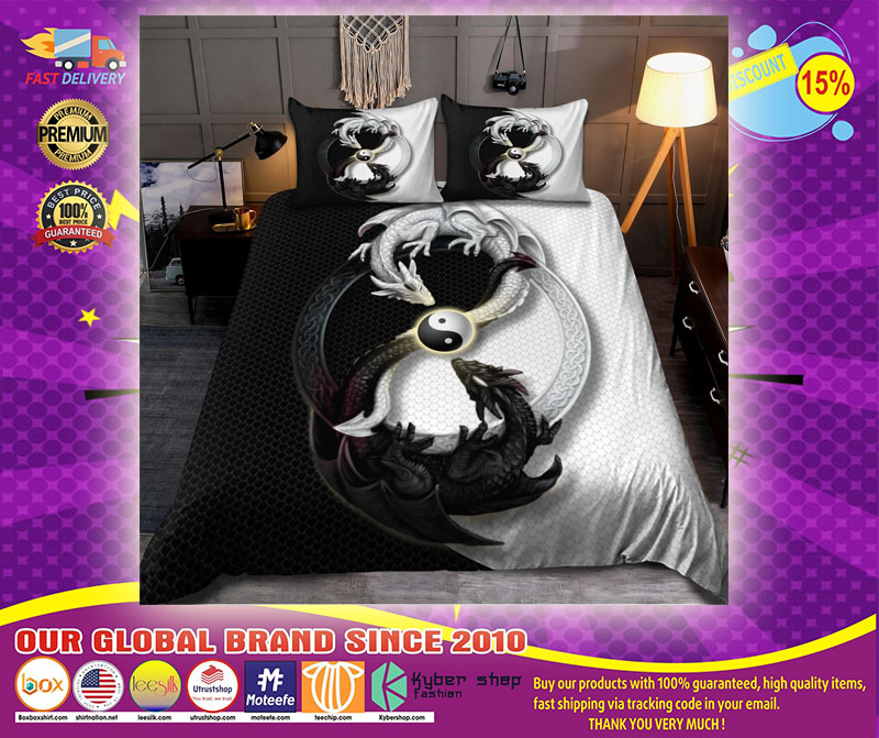 Dragon yin and yang bedding set