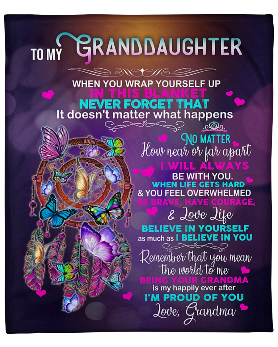 Dreamcatcher Grandma to my granddaughter blanket