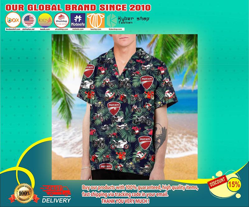 Ducati hawaiian shirt 1