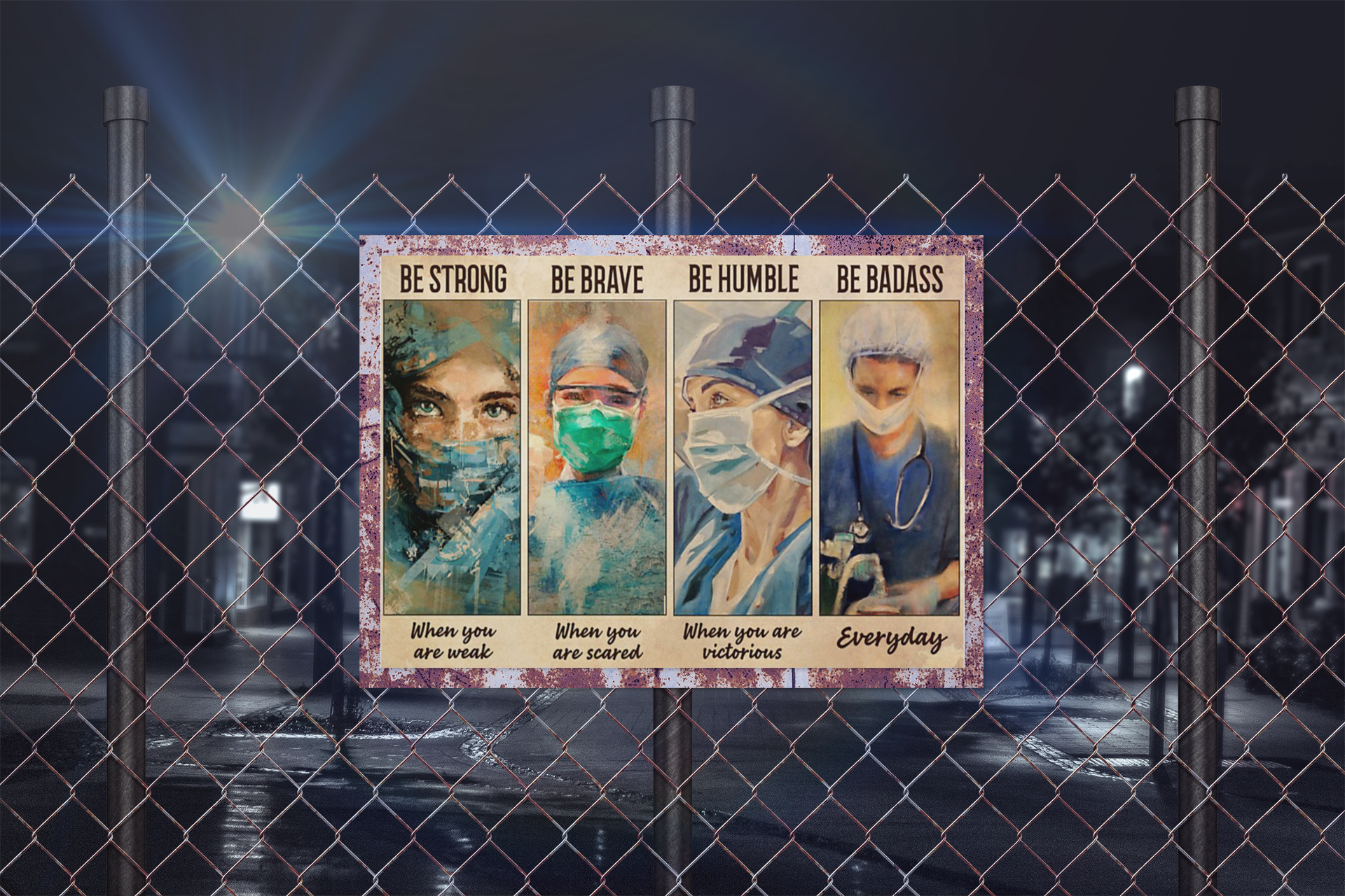 Female Physicians be strong be brave be humble be badass poster10