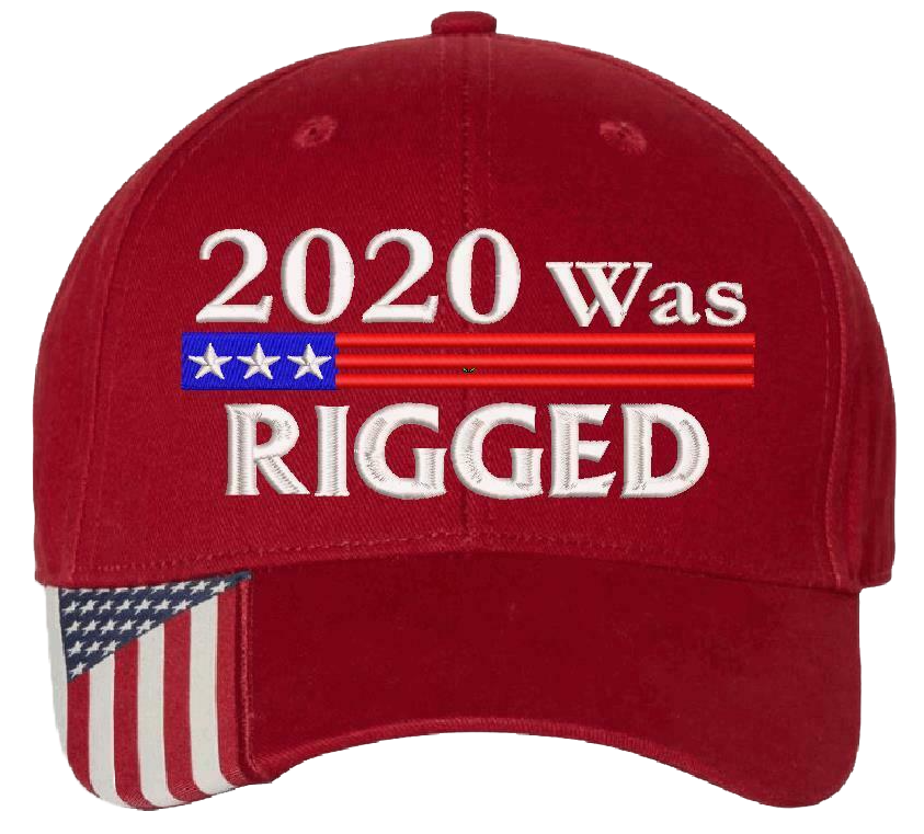 2020 was rigged cap hat 3