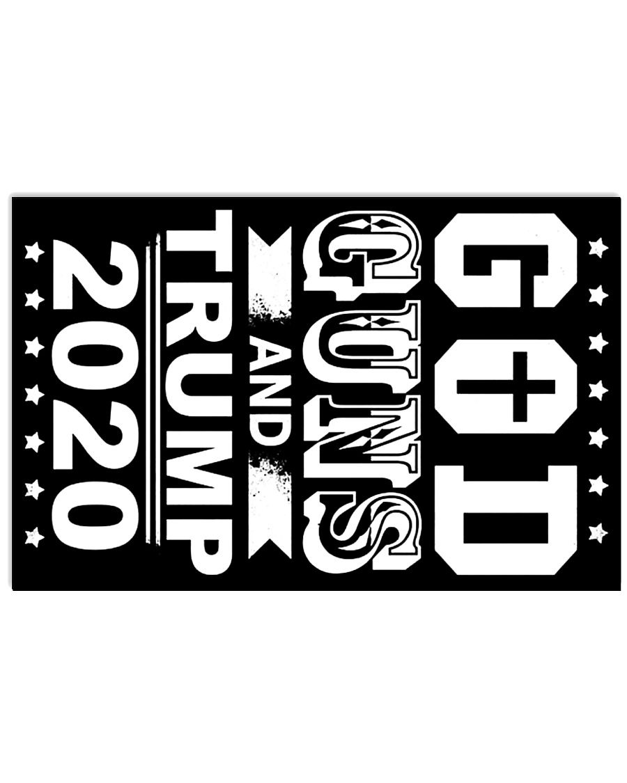 God guns and Trump 2020 yardsign