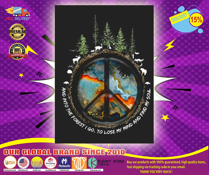 Hippie peace and into the forest I go stickers