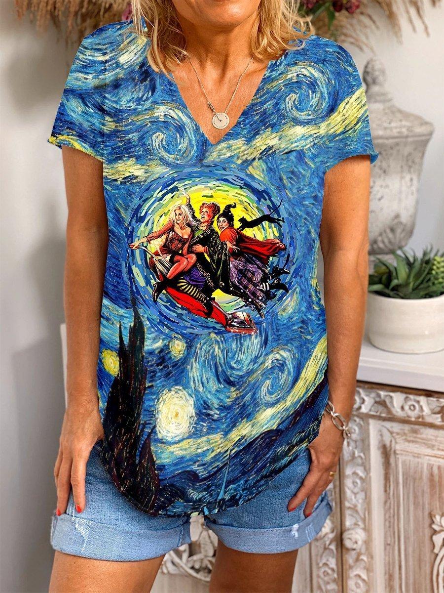 Hocus Pocus movie 3d Starry night shirt