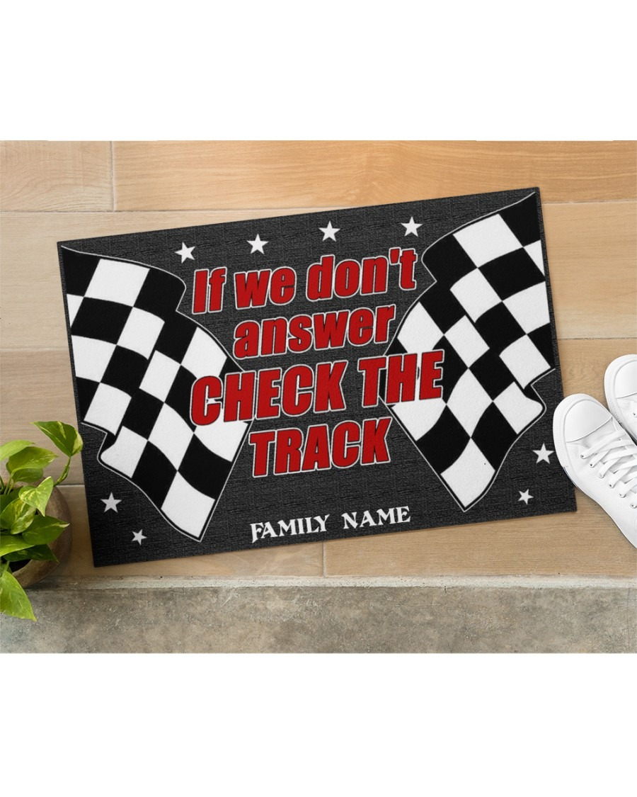 If we don't answer check the track custom name doormat